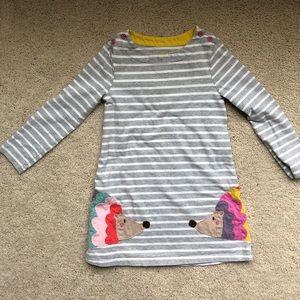 Mini Biden hedgehog appliqué dress